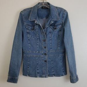 Axcess Liz Claiborne Fitted Jean Jacket - S